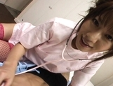 Aki Yatoh Lovely Asian nurse enjoys her work picture 11