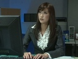 Kinky Asian office ladies tease their horny colleague share hos cock picture 3