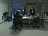 Kinky Asian office ladies tease their horny colleague share hos cock picture 5