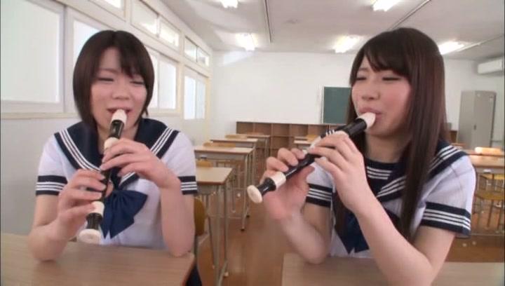 Lustful Tokyo schoolgirls arrange a lesbian action in a classroom