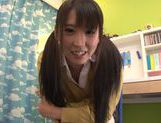 Spicy Japanese teen model Yuuki Itano engulfs cock and swallows picture 15