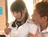 Sexy teacher Kana Yume enjoys sex at school picture 15