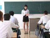 Sexy teacher Kana Yume enjoys sex at school