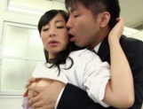 Naughty Japanese nurse gives hot head fucking and rear fuck picture 12
