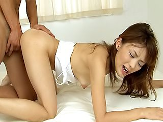 Hot babe Nagisa Aiba gets her anal gingerd and pussy screwed hard