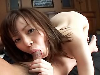 Hot anal sex lover Mika Hukunaga sucks off cock of her impressive stud