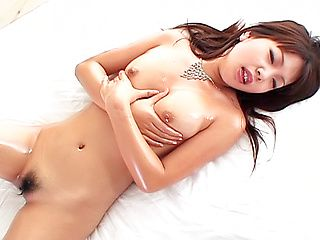 Exquisite diva Saki Ogasawara masturbates her pussy and anal