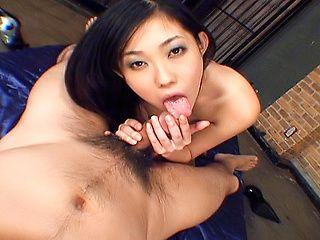 Flawless Asian sex doll Yui Komine enjoys hot Asian anal banging