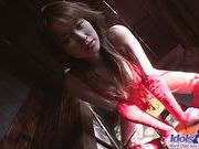Yua Aida Lovely JApanese Teen Shows Off Her Red Lingerieasian wet pussy, horny asian}