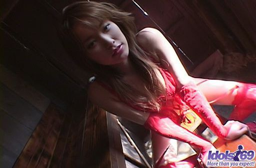 Yua Aida Lovely JApanese Teen Shows Off Her Red Lingerie