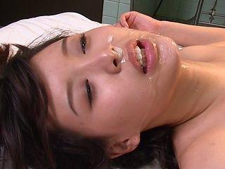 Dirty gangbang along lusty Japanese Tsukasa Aoi