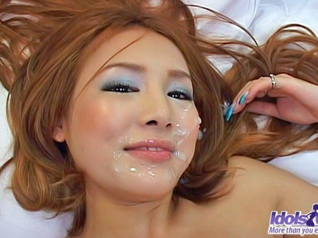 Ai Natsuki Pretty Asian babe Sucks Cock And gets A Facial