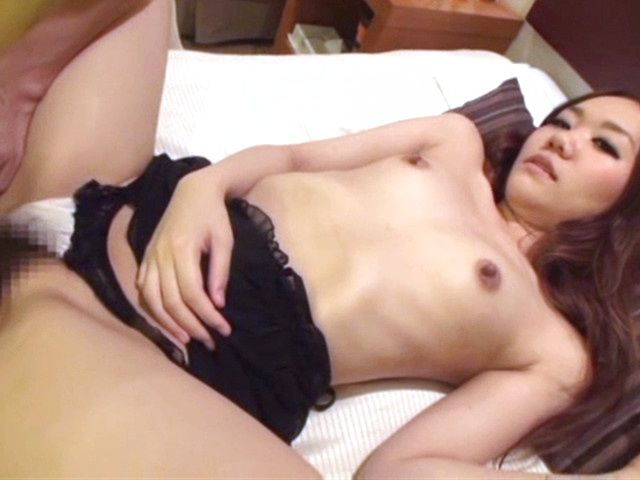 Shy Japanese AV model gets her pussy fingered and drilled