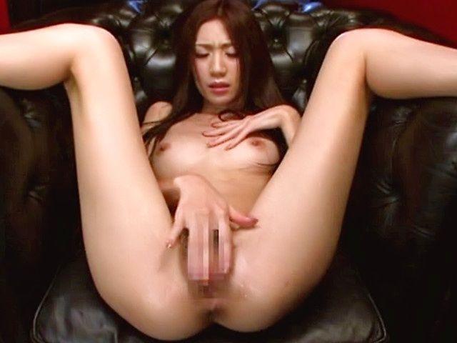 Skinny Japanese AV babe Kaori Maeda fingers juicy slit