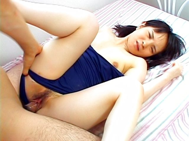Nene Mukai Asian chick in her bathing suit gets a hard fucking