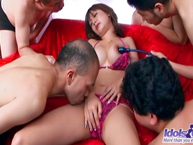 Ayame Sakura Watch The Hot Asian babe Getting A Vibrator In Her Pussy
