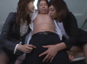 Yuna Shiratori, Ichika Kanhata naughty office chicks CFMN threesome