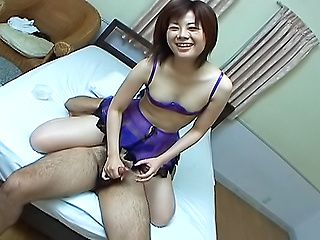 Frisky Japanese milf Yukino deepthroats her stud on Asian anal porn