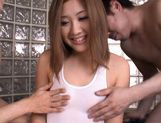 Karin Tsubaki Lovely Asian doll gets her hairy pussy and anus pounded