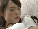 Horny Japanese amateur Yuu Konishi rubs pussy and sucks rod