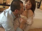 Busty Japanese model enjoys hard sex on date