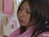 Mika Kayama Busty Asian maid likes cum covered titties picture 10
