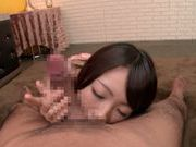 Tasty hot cum on body of Asian teen Harukana Ayane