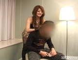 Risa Tsukino Asian Model Enjoys Fondling And Sucking On Cock