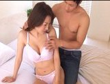 Mai Uzuki Naughty Asian chick gets cum on her tits after fucking picture 14