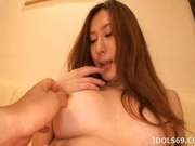 Hilari Kirishima naughty Asian babe Gets ear Pounding
