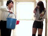 Two Students Get Sucked And Fucked By Teacher Sae Aihara picture 5