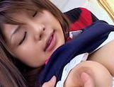 Azumi Harusaki Lovely Asian Model is a schoolgirl who enjoys showing off