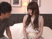 Karin Aizawa loves to feel it deep inside her hairy twat