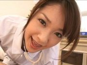 Japanese AV model is a hot nurse who likes fucking hard