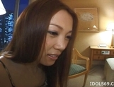 Asami Ogawa hot Asian teen smiles as she thinks about getting a fucking when her guy visits picture 13