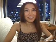 Asami Ogawa hot Asian teen smiles as she thinks about getting a fucking when her guy visits