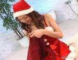 Asahi Miura Hot Asian Santa's Helper Gives Excellent Head picture 2