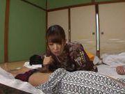 Hottie Asian in sexy kimono enjoys true porn