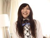 Yuu Asakura sweet Japanese girl enjoys giving blowjobs picture 12