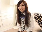 Yuu Asakura sweet Japanese girl enjoys giving blowjobs picture 13