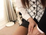 Yuu Asakura sweet Japanese girl enjoys giving blowjobs picture 15