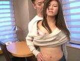 Superb Japanese babe pleases horny hard hunk picture 5
