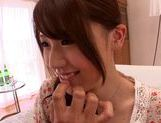 MILF Ria Horisaki sucks cock and bends over to take it