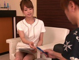 Skillful Asian nurse Akiho Yoshizawa gives amazing cock treatment picture 6