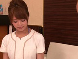 Skillful Asian nurse Akiho Yoshizawa gives amazing cock treatment picture 7