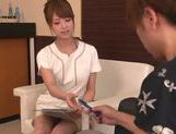 Akiho Yoshizawa Japanese babe enjoys a cock ride picture 6
