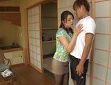 Curvaceous AV girl Shiho Tachibana deepthroats cock picture 13