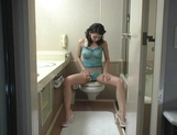 Maria Ozawa Naughty Asian chick masturbates in the bathroom