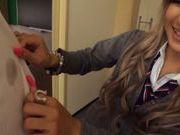 Blonde teen Julia Tachibana gets seduced by older guy