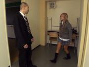Blonde teen Julia Tachibana gets seduced by older guy